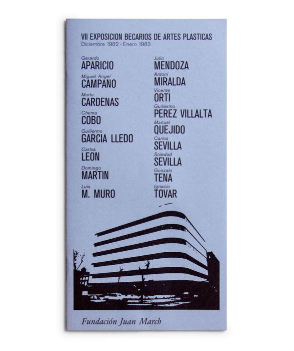 Catalogue : Exposición becarios de artes plásticas VII