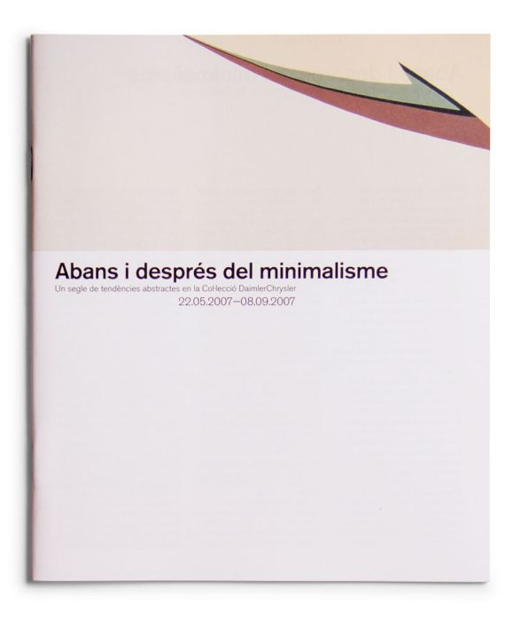 Catalogue : Abans i després del minimalisme. Un segle de tendencies abstractes en la col·lecció DaimlerChrysler
