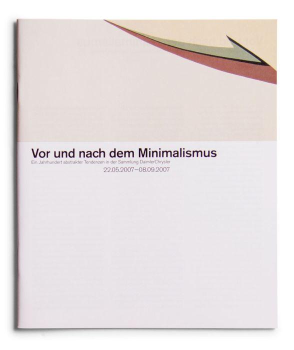 Catalogue : Vor und nach dem Milimalismus. Ein Jahrhundert abstrakter Tendenzen in der Sammlung DaimlerChrysler