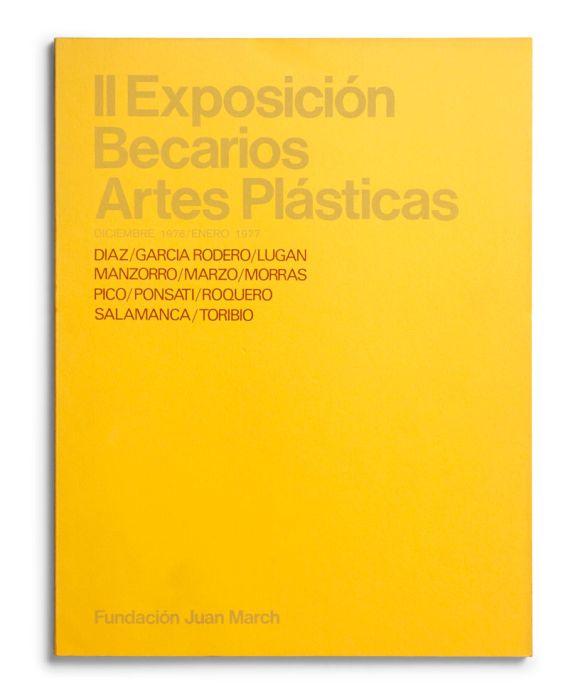 Catálogo : Exposición becarios de artes plásticas II