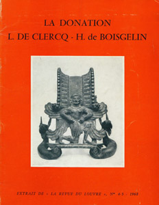Cubierta de la obra : La donation L. de Clercq-H. de Boisgelin