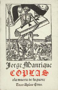 Front Cover : Coplas a la muerte de su padre, don Rodrigo