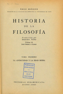 Cubierta de la obra : Historia de la Filosofía