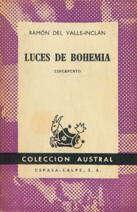 Cubierta de la obra : Luces de bohemia
