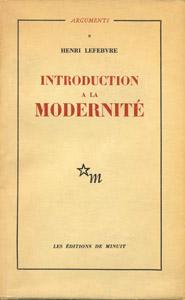 Cubierta de la obra : Introduction a la modernité