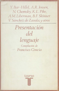 Cubierta de la obra : Presentación del lenguaje