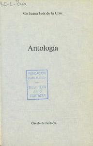 Cubierta de la obra : Antología
