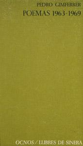 Cubierta de la obra : Poemas 1963-1969