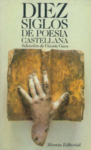Cubierta de la obra : Diez siglos de poesía castellana