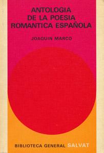 Cubierta de la obra : Antología de la poesía romántica española
