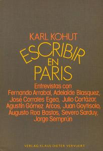 Cubierta de la obra : Escribir en París