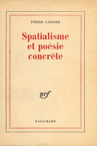 Cubierta de la obra : Spatialisme et poésie concrète