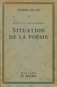 Front Cover : Situation de la poésie
