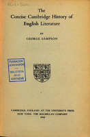 Ver ficha de la obra: concise Cambridge history of English literature