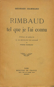 Front Cover : Rimbaud tel que je l'ai connu