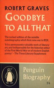 Cubierta de la obra : Goodbye to all that