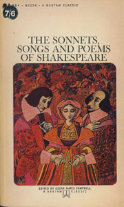 Front Cover : The sonnets, songs and poems of Shakespeare