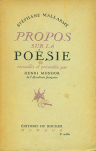 Cubierta de la obra : Propos sur la poésie