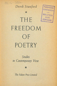 Front Cover : The freedom of poetry