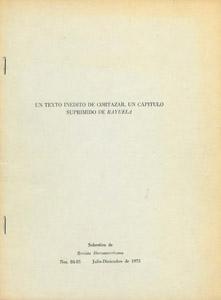 Cubierta de la obra : Un texto inédito de Cortázar