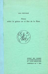 Front Cover : Notas sobre lo gótico en el Río de la Plata