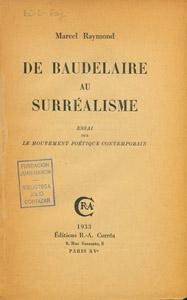 Cubierta de la obra : De Baudelaire au surrealisme