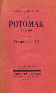 """Cubierta de la obra : Le Potomak, 1913-1914 ; précédé d'un """"Prospectus, 1916"""""""