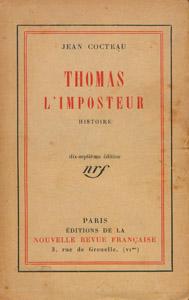 Front Cover : Thomas l'imposteur