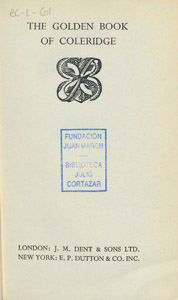 Cubierta de la obra : The golden book of Coleridge