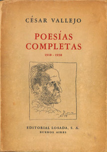 Cubierta de la obra : Poesías completas (1918-1938)