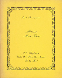 Front Cover : Moroses mots roses