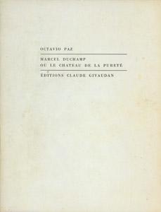 Cubierta de la obra : Marcel Duchamp ou Le chateau de la pureté
