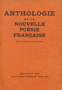 Cubierta de la obra : Anthologie de la nouvelle poésie française
