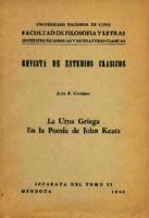 Ver ficha de la obra: urna griega en la poesía de John Keats