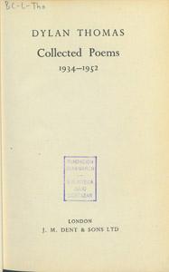 Cubierta de la obra : Collected poems
