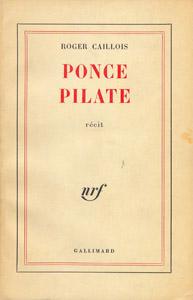 Cubierta de la obra : Ponce Pilate