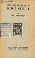 Ver ficha de la obra: Life and letters of John Keats