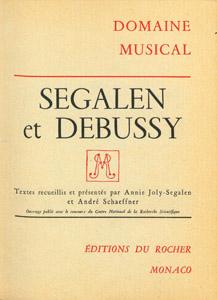 Cubierta de la obra : Segalen et Debussy