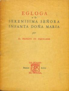 Cubierta de la obra : Egloga a la Serenísima Señora Infanta Doña María