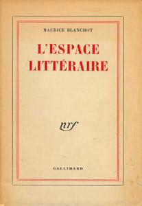 Cubierta de la obra : L' espace littéraire