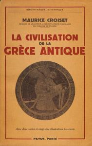 Front Cover : La civilisation de la Grèce antique
