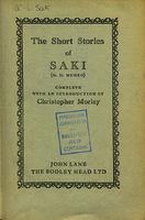 See work details: short stories of Saki (H. H. Munro)