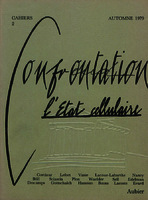 Ver ficha de la obra: Cahiers Confrontation