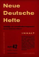 Ver ficha de la obra: Neue Deutsche Hefte