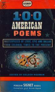 Cubierta de la obra : 100 american poems