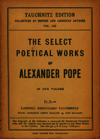 Ver ficha de la obra: select poetical works of Alexander Pope, with the life of the author