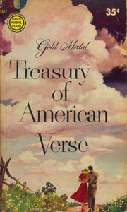 Front Cover : Gold medal treasury of american verse
