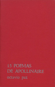 Cubierta de la obra : 15 poemas de Apollinaire