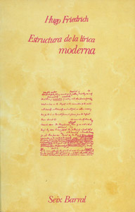 Cubierta de la obra : La estructura de la lírica moderna