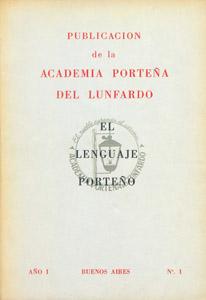 Cubierta de la obra : Boletín de la Academia Porteña del Lunfardo